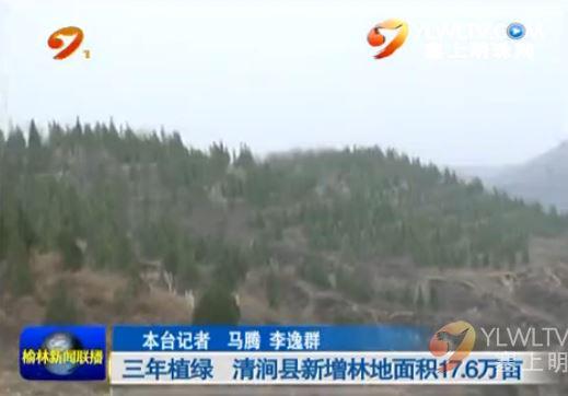 三年植绿 清涧县新增林地面积17.6万亩